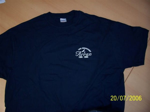 Arran T-Shirt 10th Anniversary blau Gr. M