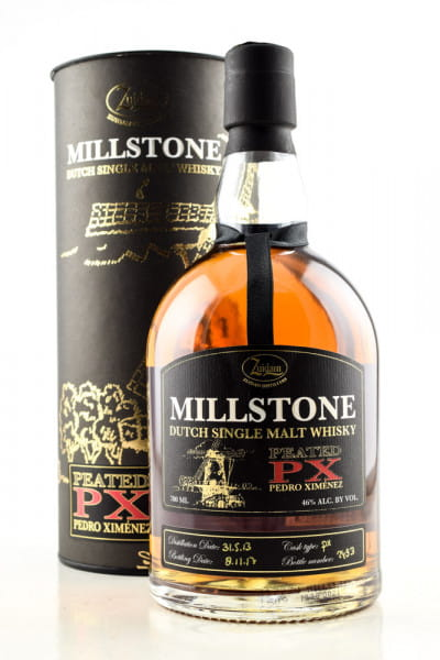 Millstone Peated PX Cask 46%vol. 0,7l