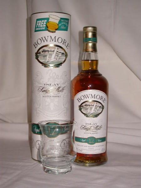 Bowmore 12 Jahre mit Glas 40%vol. 0,7l