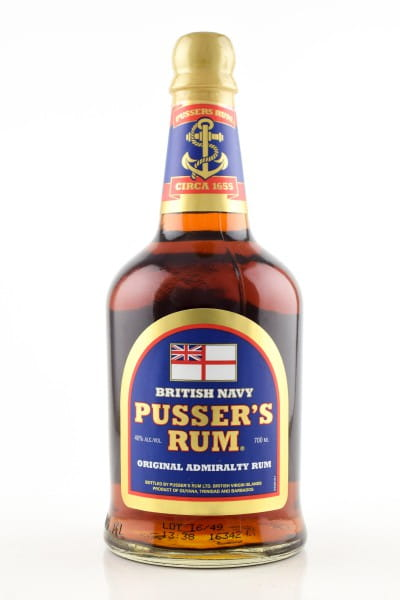 Pusser's British Navy Original Admiralty Blue Label 40%vol. 0,7l