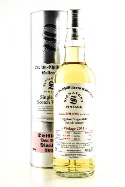 Ben Nevis 9 Jahre 2011/2020 Bourbon Barrels #146 & #155 Un-Chillfiltered Signatory 46%vol. 0,7l