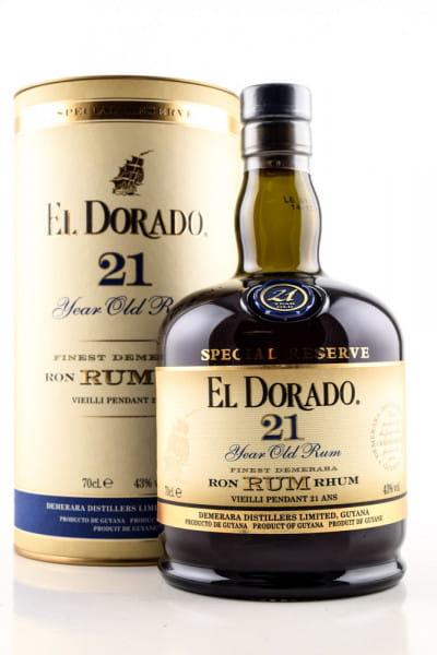 El Dorado 21 Jahre 43%vol. 0,7l