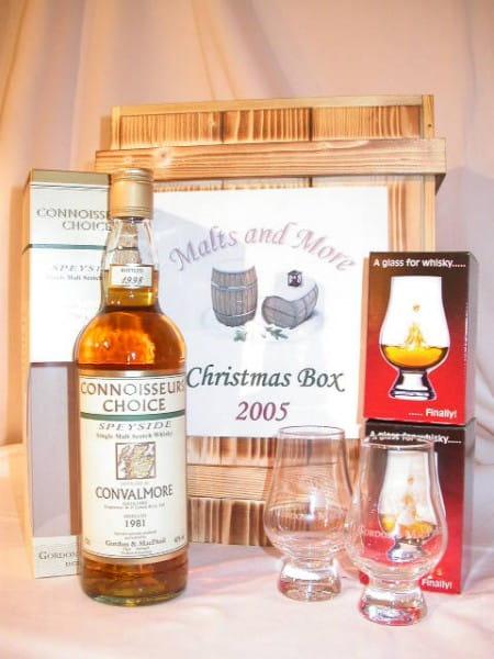 Christmas Box Gordon & MacPhail Convalmore 1981/1998 + 2 Gläser