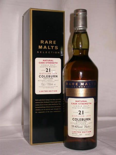 Coleburn 21 Jahre 1979/2000 Rare Malts 59,4%vol. 0,7l