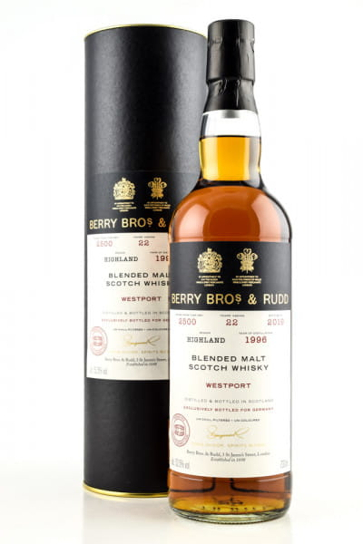 Westport 22 Jahre 1996/2019 Cask #2500 Berry Bros. & Rudd 52,5%vol. 0,7l