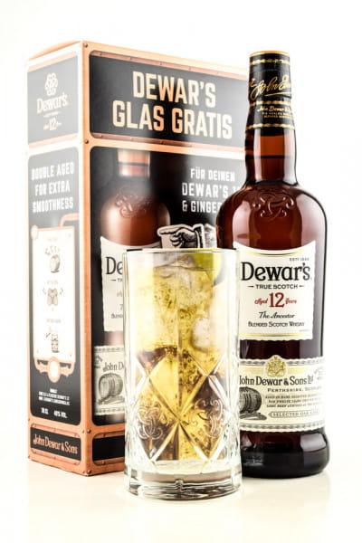Dewar's 12 Jahre The Ancestor 40%vol. 0,7l mit Glas