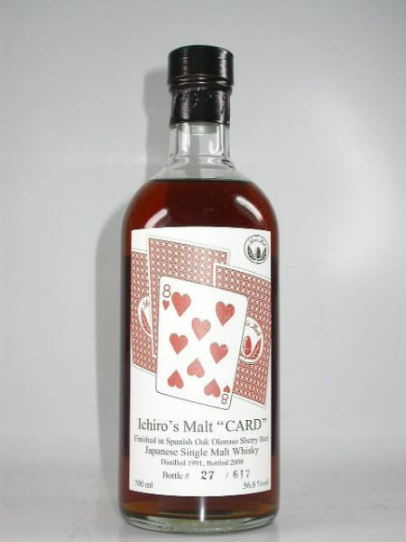 "Hanyu-Ichiro's Malt ""Eight of Hearts"" 91/08 Single Cask#9303 56,8%vol. 0,7l"