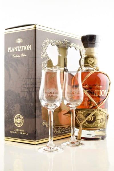 Plantation Barbados XO 20th Anniversary 40%vol. 0,7l mit 2 Gläsern
