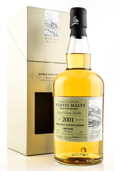 """Spiced Creme Brulée"" 2001/2018 Single Bourbon Hogshead Mortlach Wemyss Malts 46%vol. 0,7l"