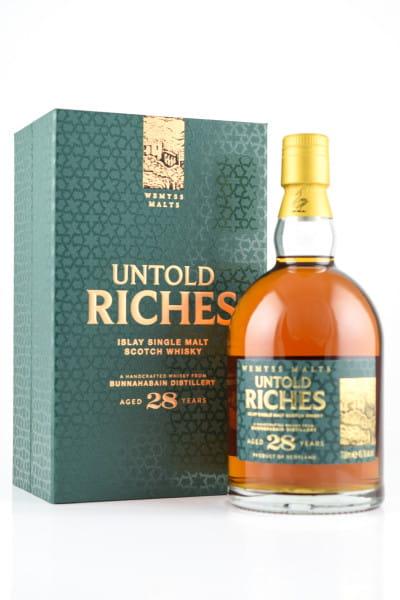 """Untold Riches"" 28 Jahre Bunnahabhain Wemyss Malts 49,1%vol. 0,7l"