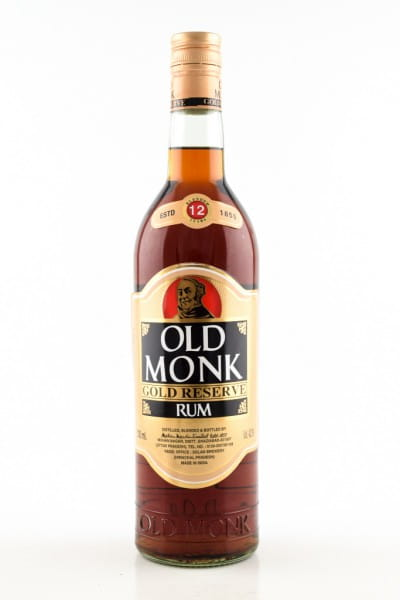 Old Monk Rum Gold Reserve 12 Jahre 42,8%vol. 0,7l