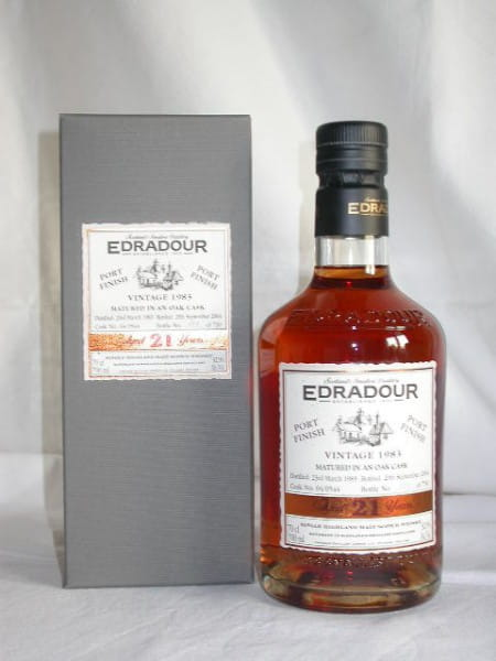 Edradour 21 Jahre 1983/2004 Port Finish 52,9%vol. 0,7l