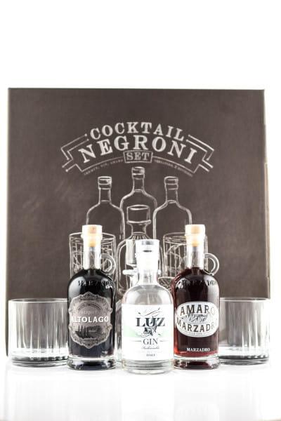 Cocktail Negroni Set 3x 0,2l inkl. Gläser & Karaffe