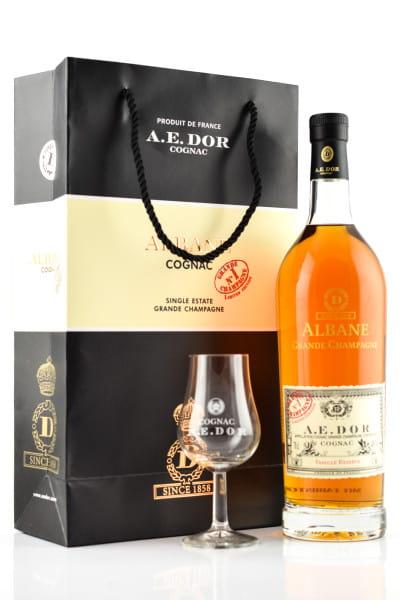 A.E. Dor Albane Grande Champagne Limited Edition 40%vol. 0,7l mit 2 Gläsern