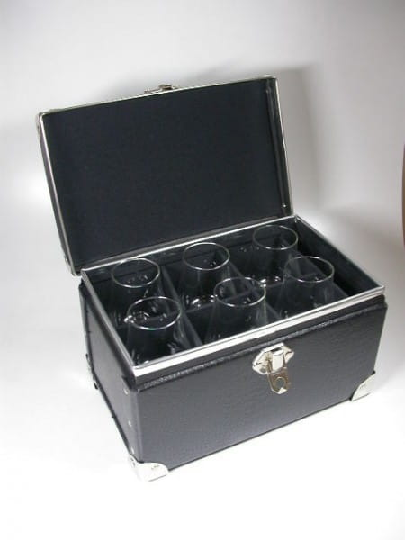 Tasting-Koffer inkl. 6 Nosing-Gläser - Alstermo Bruk - Koffer offen
