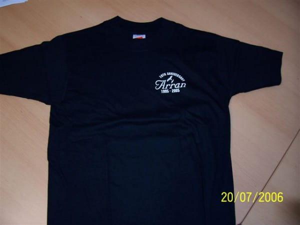 Arran T-Shirt 10th Anniversary schwarz Gr. S