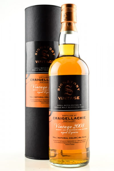Craigellachie 11 Jahre 2008/2019 Small Batch Edition #5 Signatory 48,1%vol. 0,7l