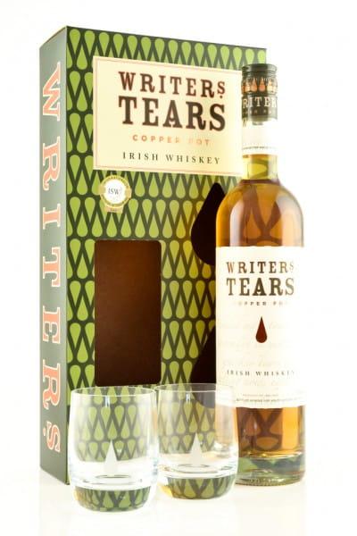 Writers Tears - Irish Pot Still Blend 40%vol. 0,7l - mit 2 Gläsern