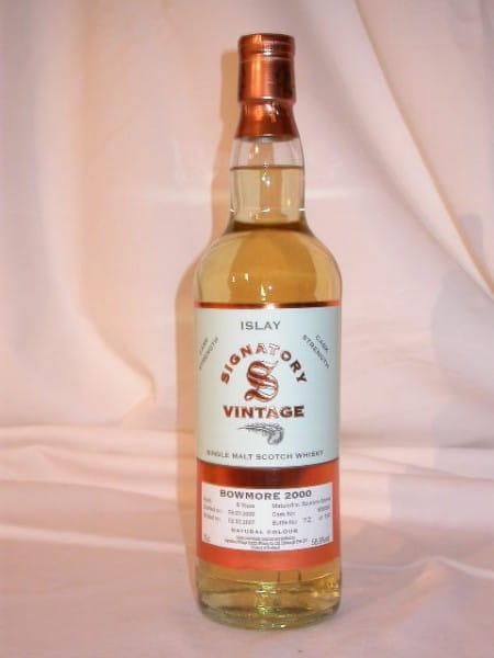 Bowmore 6 Jahre 2000/2007 Bourbon Barrel Signatory 58,9%vol.0,7l
