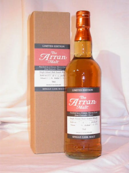 Arran Cream Sherry f. G. Byass Single Cask Btl. 06 57,5%vol.0,7l