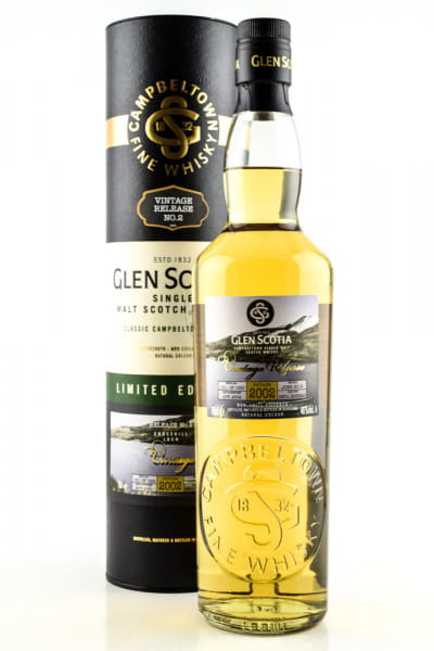 Glen Scotia Vintage 2002 Limited Edition No. 2 46%vol. 0,7l