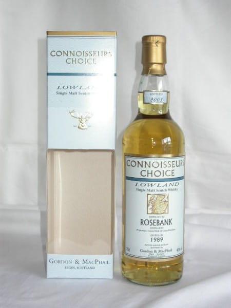Rosebank 1989/2003 Gordon & MacPhail Connoisseurs Ch. 40%vol. 0,7l