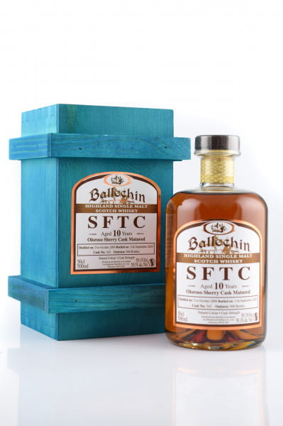 Ballechin 10 Jahre 2009/2020 SFTC Oloroso Sherry Cask Matured #343 59,1%vol. 0,5l