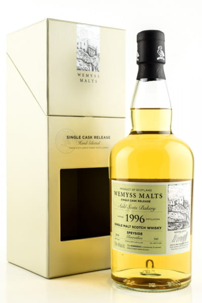 """Auld Scots Bakery"" 1996/2018 Single Bourbon Hogshead Glenrothes Wemyss Malts 46%vol. 0,7l"