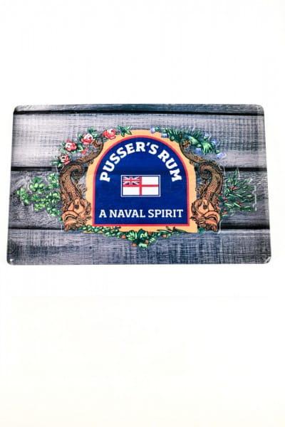 Pusser's Rum - A Naval Spirit Blechschild