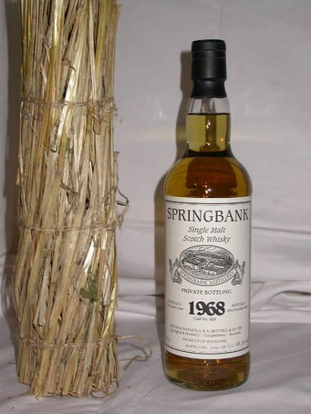 Springbank 1968/2003 Private Btl. Cask No. 484 49,1%vol. 0,7l