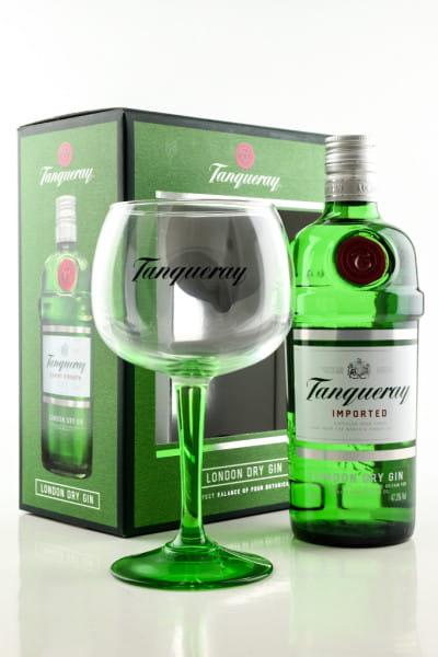 *Tanqueray 47,3%vol. 0,7l mit Copa-Glas - Geschenkpackung beschädigt