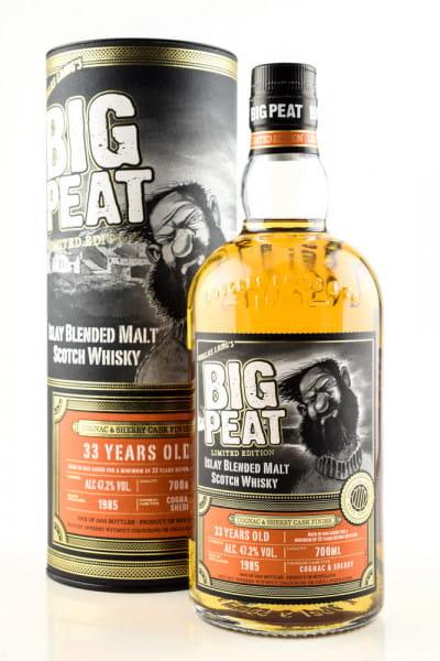 Big Peat 33 Jahre Cognac & Sherry Cask Finish Douglas Laing 47,2%vol. 0,7l