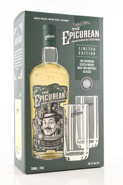 The Epicurean Lowland Blended Malt Douglas Laing 46,2%vol. 0,7l - mit 2 Gläsern