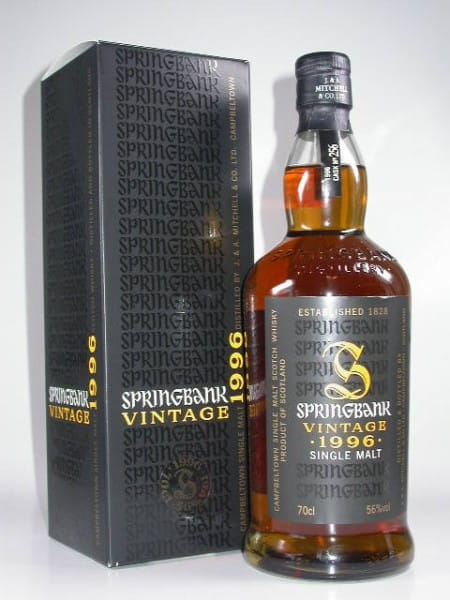 Springbank Vintage 1996 Single Amontillado Sherry Cask 56%vol.Sample 0,05l
