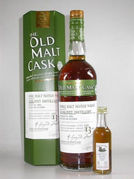 """Glenlivet 13 Jahre 1996/2009 Douglas Laing """"Old Malt Cask"""" 50%vol. Sample 0,05l"""