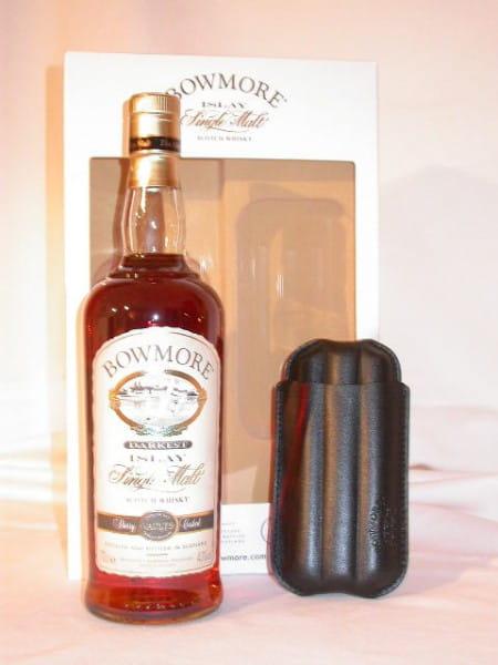 Bowmore Darkest Oloroso-Sherry Finish 43%vol.0,7l & Cigar Holder