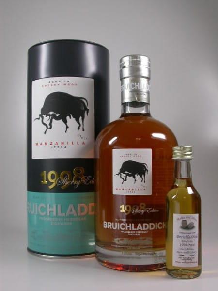 Bruichladdich 1998/2008 Manzanilla Sherry Cask 46%vol. Sample 0,05l