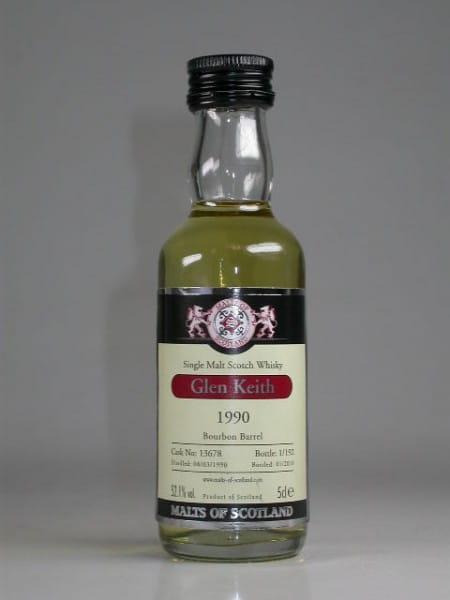 Glen Keith 1990/2010 Bourbon Barrel Malts of Scotland 52,1%vol. 0,05l