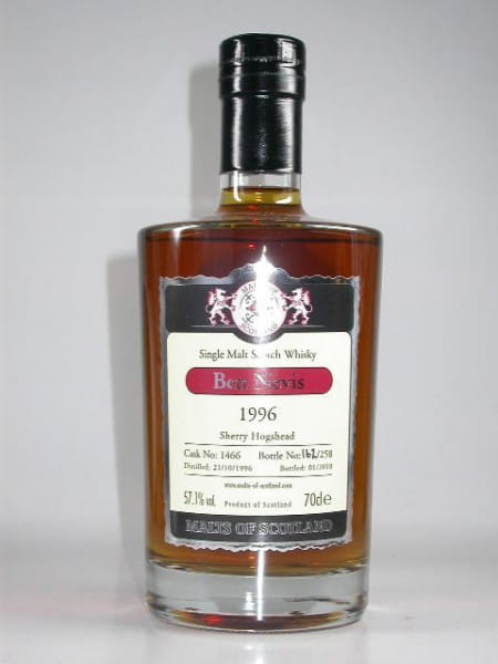 Ben Nevis 1996/2010 Sherry Hogshead Malts of Scotland 57,1%vol. 0,7l