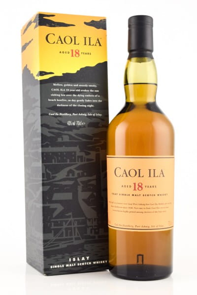 *Caol Ila 18 Jahre 43%vol. 0,7l - ohne Etiketten