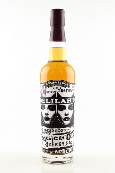 Delilah's 25th Anniversary Bottling Compass Box 46%vol. 0,7l