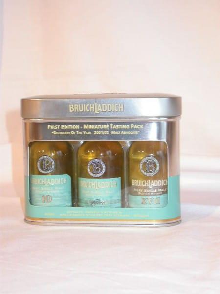 Bruichladdich Miniature Tasting Pack 46%vol. 3x 0,05l