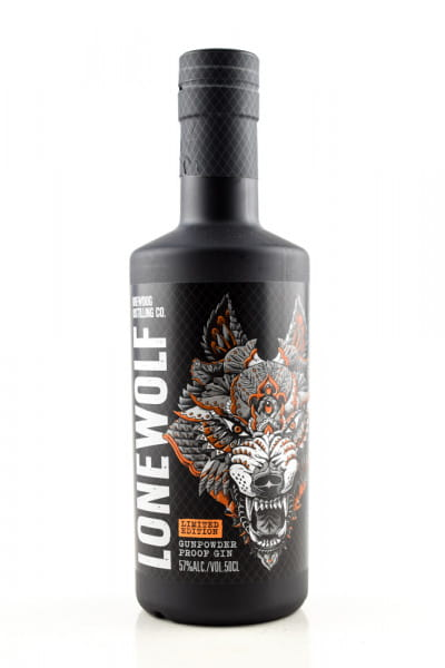 LoneWolf Gunpowder Proof Gin Limited Edition 57%vol. 0,5l