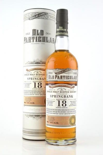 "Springbank 18 Jahre Refill Butt 1996/2015 Douglas Laing ""Old Particular"" 48,4%vol. 0,7l"