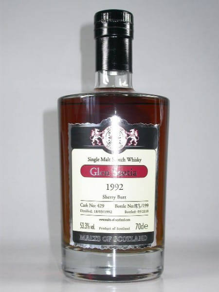Glen Scotia 1992/2010 Sherry Butt Malts of Scotland 53,3%vol. 0,7l