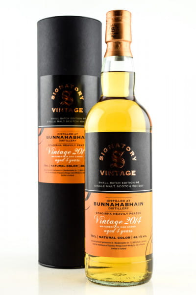 Bunnahabhain Staoisha 4 Jahre 2014/2019 Small Batch Edition #4 Signatory 48,1%vol. 0,7l