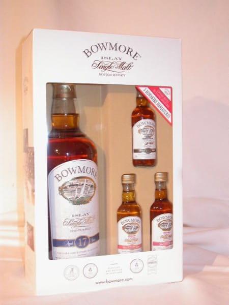 Bowmore 17 Jahre 43%vol. 0,7l mit 3 Miniaturen