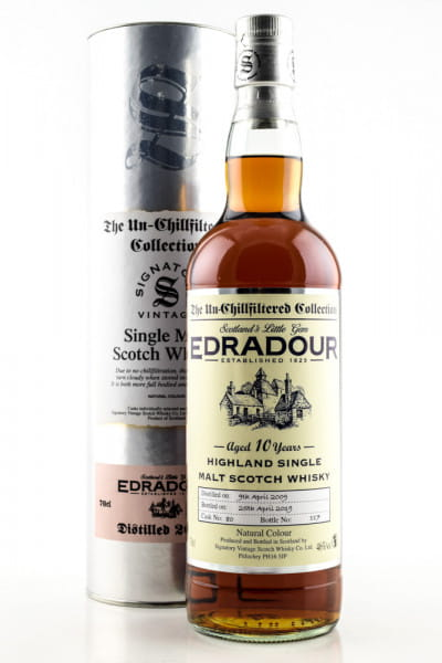 Edradour 10 Jahre 2009/2019 Single Cask #80 Signatory 46%vol. 0,7l