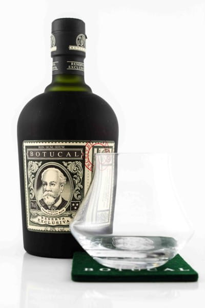 Botucal Reserva Exclusiva 40%vol. 0,7l - mit Glas und Untersetzer