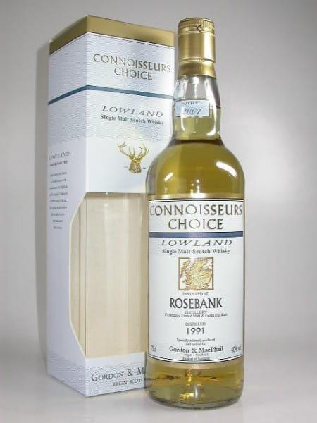 Rosebank 1991/2007 Gordon & MacPhail Connoisseurs Ch. 40%vol. 0,7l